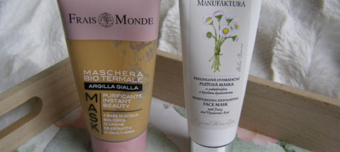 Z kosmetické poličky – masky Manufaktura aFrais Monde