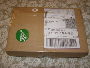 vše přišlo v krabičce
