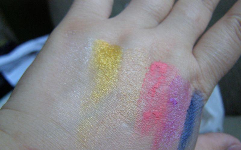 pigmentace stínů