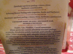zadní část etikety