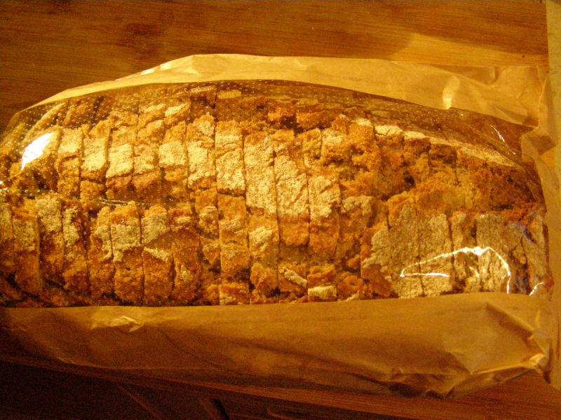Kovářův chleba. Nejlepší chleba, protože nemá kmín. Já nenávidím kmín.