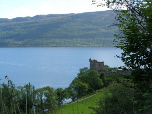 Urquhart Castle u jezera Loch Ness