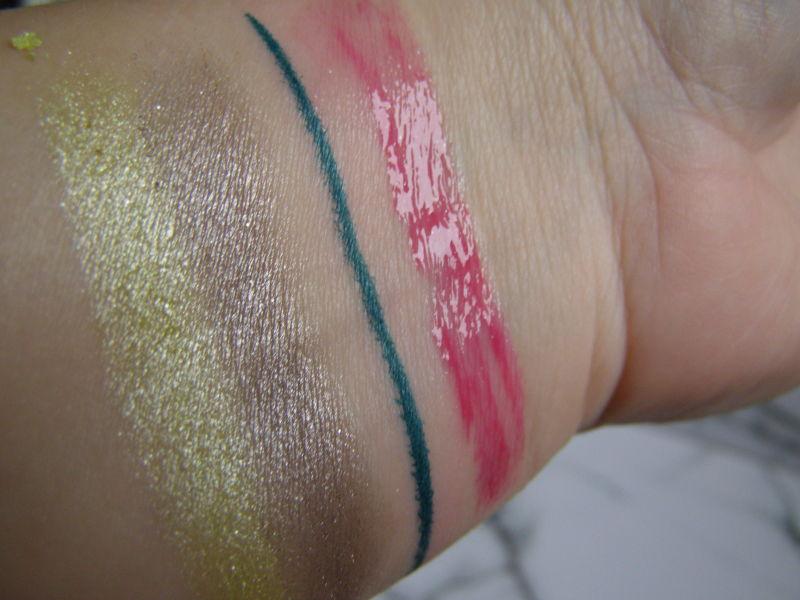 pigmentace dua stínů, linek a lesku