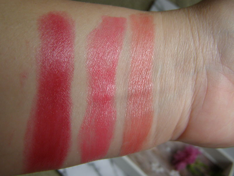 zleva: Soft Raspberry, Soft Peach, Pearly Peach