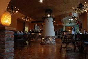 interiér restaurace Atollo